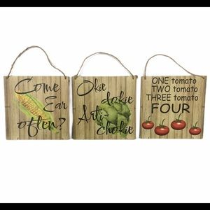 Kitchen Wall Hanging Plaques Farmhouse Vegetable